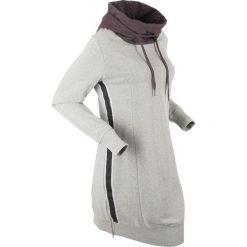 Długa bluza dresowa, długi rękaw bonprix jasnoszary melanż - szary. Szare bluzy rozpinane damskie bonprix, melanż, z dresówki, z długim rękawem, długie. Za 129,99 zł.
