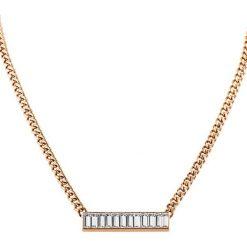 Naszyjniki damskie: Naszyjnik w kolorze różowego złota z kryształami Swarovski – (D)45 cm