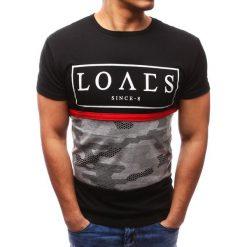 T-shirty męskie z nadrukiem: T-shirt męski z nadrukiem czarny (rx2713)