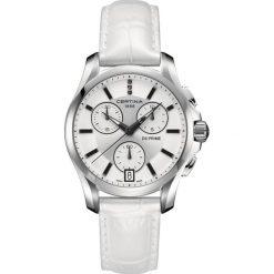 PROMOCJA ZEGAREK CERTINA LADY QUARTZ C004.217.16.036.00. Białe zegarki damskie CERTINA, ze stali. W wyprzedaży za 1949,20 zł.