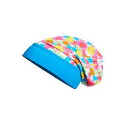 Playshoes  Czapka UV Beanie Kwiatki. Brązowe czapeczki niemowlęce marki Playshoes, w kwiaty, z elastanu. Za 25,00 zł.