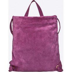 Answear - Plecak skórzany. Fioletowe plecaki damskie marki ANSWEAR, z materiału. W wyprzedaży za 159,90 zł.
