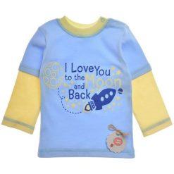 Garnamama Koszulka Chłopięca 86 Niebieski. Niebieskie t-shirty chłopięce marki Garnamama, z napisami, z bawełny. Za 42,00 zł.