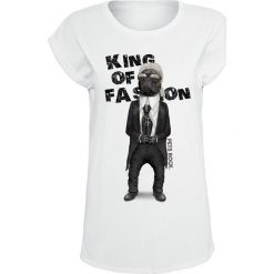 Bluzki asymetryczne: Pets Rock King Of Fashion Koszulka damska biały