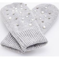 Rękawiczki z koralikami - Szary. Szare rękawiczki damskie Reserved. Za 49,99 zł.