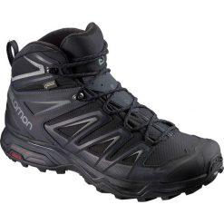 Buty trekkingowe męskie: Salomon Buty męskie X Ultra 3 Wide Mid GTX Black/India Ink r. 45 1/3 (401293)
