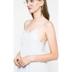 Haily's - Sukienka Lina. Niebieskie sukienki mini marki DOMYOS, z elastanu, street, z okrągłym kołnierzem. Za 89,90 zł.