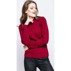Lacoste - Sweter. Szare swetry klasyczne damskie Lacoste, s, z bawełny, z okrągłym kołnierzem. W wyprzedaży za 359,90 zł.