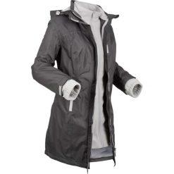 Krótki płaszcz funkcyjny 3 w 1 z kapturem bonprix szaro-matowy srebrny. Szare płaszcze damskie bonprix, z polaru. Za 269,99 zł.