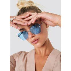 NA-KD Accessories Okulary przeciwsłoneczne kocie oczy - Blue,Silver. Szare okulary przeciwsłoneczne damskie lenonki marki ORAO. Za 52,95 zł.