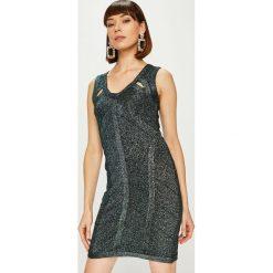 Answear - Sukienka. Szare sukienki balowe ANSWEAR, l, z dzianiny, mini, dopasowane. Za 149,90 zł.