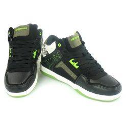 SKATE Buty za Kostkę EXPANDER Sznurowane. Szare buty skate męskie Expander, ze skóry ekologicznej, na sznurówki. Za 79,90 zł.