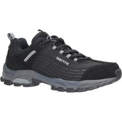 Czarne buty sportowe sznurowane softshell Casu B1528-1. Czarne buty sportowe damskie marki Casu. Za 89,99 zł.