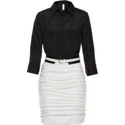 Sukienki balowe: Sukienka biznesowa bonprix czarno-biały