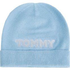 Czapka TOMMY HILFIGER - Patch Knit Bea AW0AW06184 499. Niebieskie czapki zimowe damskie marki WED'ZE, z materiału. Za 179,00 zł.