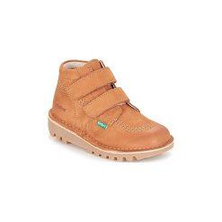 Kozaki Dziecko Kickers  NEOVELCRO. Niebieskie buty zimowe chłopięce marki Kickers, z kauczuku, na sznurówki. Za 329,00 zł.