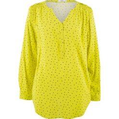 Tuniki damskie z długim rękawem: Tunika, długi rękaw bonprix zielona limonka - wzorzysty