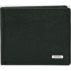 Calvin Klein - Portfel skórzany. Czarne portfele męskie marki Calvin Klein, z materiału. Za 249,90 zł.
