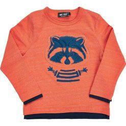 Koszulka w kolorze pomarańczowym. Brązowe t-shirty chłopięce z długim rękawem MeToo, z nadrukiem. W wyprzedaży za 47,95 zł.