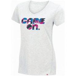 Wilson Damska Koszulka Tenisowa Spring Game On Tech T White Heather M. Niebieskie bluzki sportowe damskie marki DOMYOS, xs, z bawełny. W wyprzedaży za 89,00 zł.