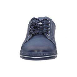 Buty Casu  Półbuty skórzane sznurowane  320. Szare półbuty sznurowane męskie marki Casu. Za 129,99 zł.