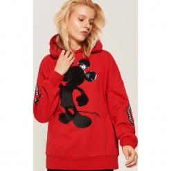 Bluza oversize Mickey Mouse - Czerwony. Czarne bluzy damskie marki KIPSTA, z poliesteru, do piłki nożnej. Za 119,99 zł.