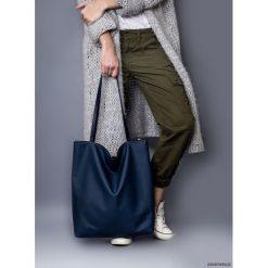 Torba basic granatowa krata. Szare torebki klasyczne damskie Pakamera, z bawełny. Za 130,00 zł.