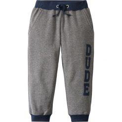 Spodnie dresowe bonprix szary melanż - ciemnoniebieski. Szare spodnie dresowe chłopięce marki bonprix, melanż. Za 34,99 zł.