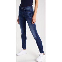 GStar 3301 HIGH SKINNY  Jeansy Slim Fit yzzi stretch denim. Niebieskie jeansy damskie relaxed fit marki G-Star, z bawełny. W wyprzedaży za 439,20 zł.