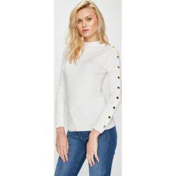 Guess Jeans - Sweter Cecilia. Szare swetry klasyczne damskie Guess Jeans, s, z dzianiny. Za 369,90 zł.