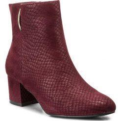 Botki JENNY FAIRY - LS4253-01 Bordowy. Czerwone buty zimowe damskie marki Jenny Fairy, z materiału, na obcasie. Za 119,99 zł.