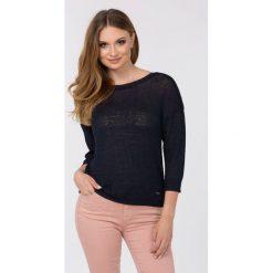 Swetry klasyczne damskie: Gładki sweter z wiskozy