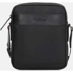 Czarna torba męska. Czarne torby na ramię męskie marki Kazar, w paski, ze skóry ekologicznej, przez ramię, małe. Za 299,00 zł.