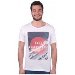 Mustang T-Shirt Męski Xl Biały. Czarne t-shirty męskie marki Mustang, l, z bawełny, z kapturem. W wyprzedaży za 79,00 zł.
