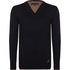 """Swetry klasyczne męskie: Sweter """"Casual"""" w kolorze czarnym"""