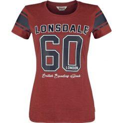 Lonsdale London Shardlow Koszulka damska czerwony. Czerwone bluzki damskie marki Lonsdale London, s, z nadrukiem, z okrągłym kołnierzem. Za 42,90 zł.