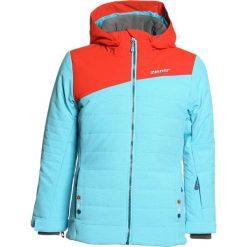 Ziener AIZA JUN  Kurtka snowboardowa blue aqua rib. Niebieskie kurtki dziewczęce sportowe Ziener, z materiału, narciarskie. W wyprzedaży za 296,45 zł.
