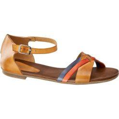 Rzymianki damskie: sandały damskie 5th Avenue brązowe