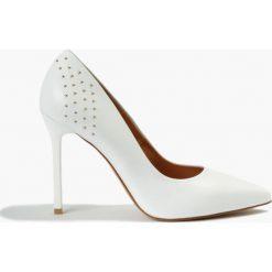 Buty ślubne damskie: Czółenka białe Olimpia