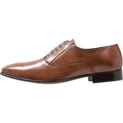 Azzaro MARS Eleganckie buty marron. Brązowe buty wizytowe męskie Azzaro, z materiału, na sznurówki. Za 539,00 zł.