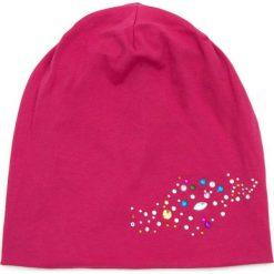 Czapka damska beanie Kolorowe Szkiełka różowa. Czerwone czapki zimowe damskie marki Art of Polo, w kolorowe wzory. Za 36,52 zł.