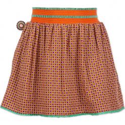 """Spódnica """"The Hardest Button To Button"""" z kolorowym wzorem. Brązowe spódniczki dziewczęce marki 4FunkyFlavours Kids, w kolorowe wzory, midi. W wyprzedaży za 82,95 zł."""