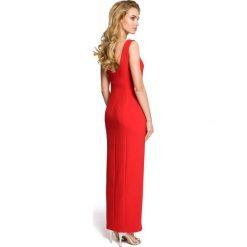 MARY Sukienka maksi z rozcięciem na boku - czerwona. Czarne sukienki na komunię marki Mohito, l, z dekoltem na plecach. Za 179,90 zł.