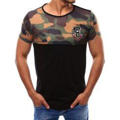 T-shirty męskie z nadrukiem: T-shirt męski z nadrukiem czarny (rx1965)