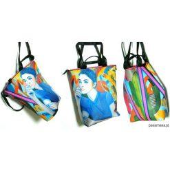 1242 art MIMA bag UNI & Marcin Painta print. Szare shopper bag damskie Pakamera, w paski, przez ramię. Za 399,00 zł.