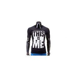 T-SHIRT MĘSKI Z NADRUKIEM S598 - CZARNY. Czarne t-shirty męskie z nadrukiem marki Ombre Clothing, m, z bawełny. Za 29,00 zł.