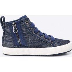 Geox - Trampki dziecięce. Szare buty sportowe chłopięce Geox, z materiału, na sznurówki. W wyprzedaży za 179,90 zł.