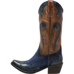 Kentucky's Western Kowbojki i Buty motocyklowe teguelila/delion. Niebieskie kowbojki damskie marki Kentucky's Western, z materiału. W wyprzedaży za 569,25 zł.