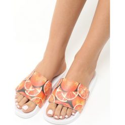 Klapki damskie: Pomarańczowe Klapki Sweet Oranges