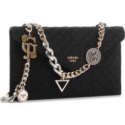 Torebka GUESS - HWMC71 11270 BLA. Czarne torebki klasyczne damskie Guess, z aplikacjami, z materiału. Za 449,00 zł.